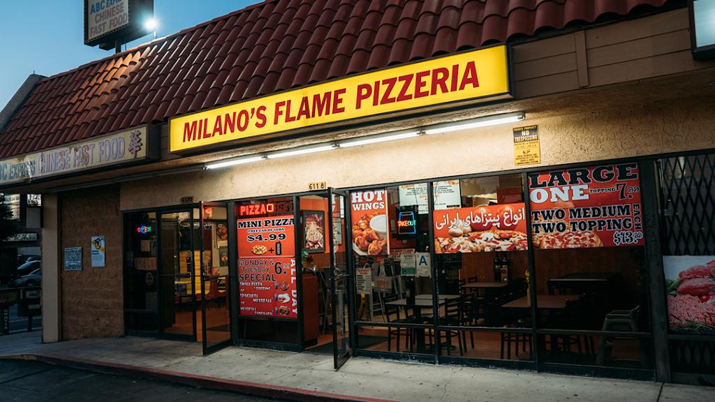 Round Table Pizza Tarzana.Milanos Flame Pizza Pasta Meal Delivery 6118 Reseda Blvd