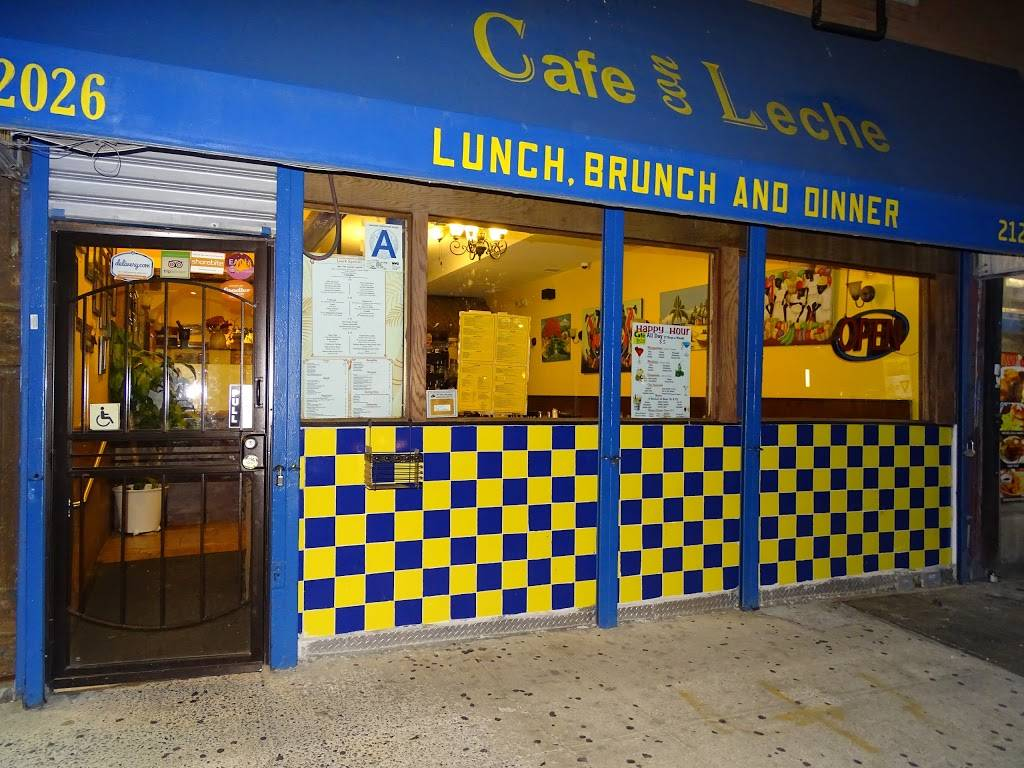 Cafe Con Leche | restaurant | 2026 2nd Ave, New York, NY 10029, USA | 2125957000 OR +1 212-595-7000