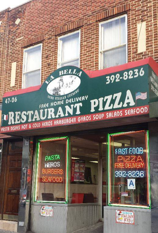 La Bella Pizzeria   meal delivery   47-06 Greenpoint Ave, Sunnyside, NY 11104, USA   7183928236 OR +1 718-392-8236