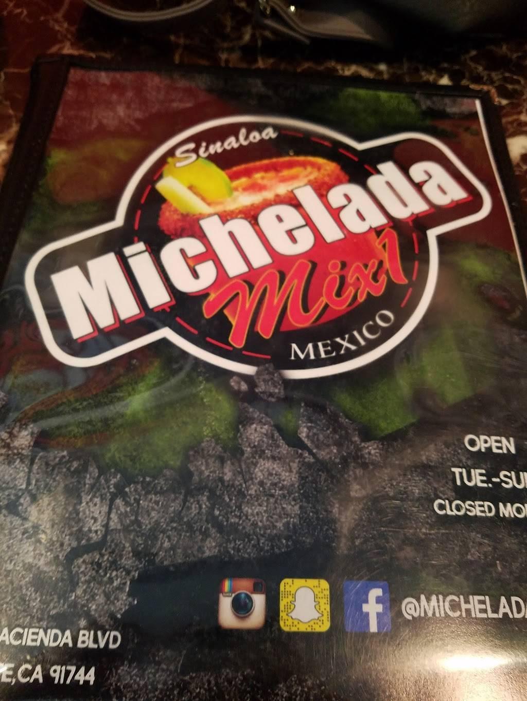 Michelada mix1 | restaurant | 1665 N Hacienda Blvd, La Puente, CA 91744, USA | 6269171111 OR +1 626-917-1111