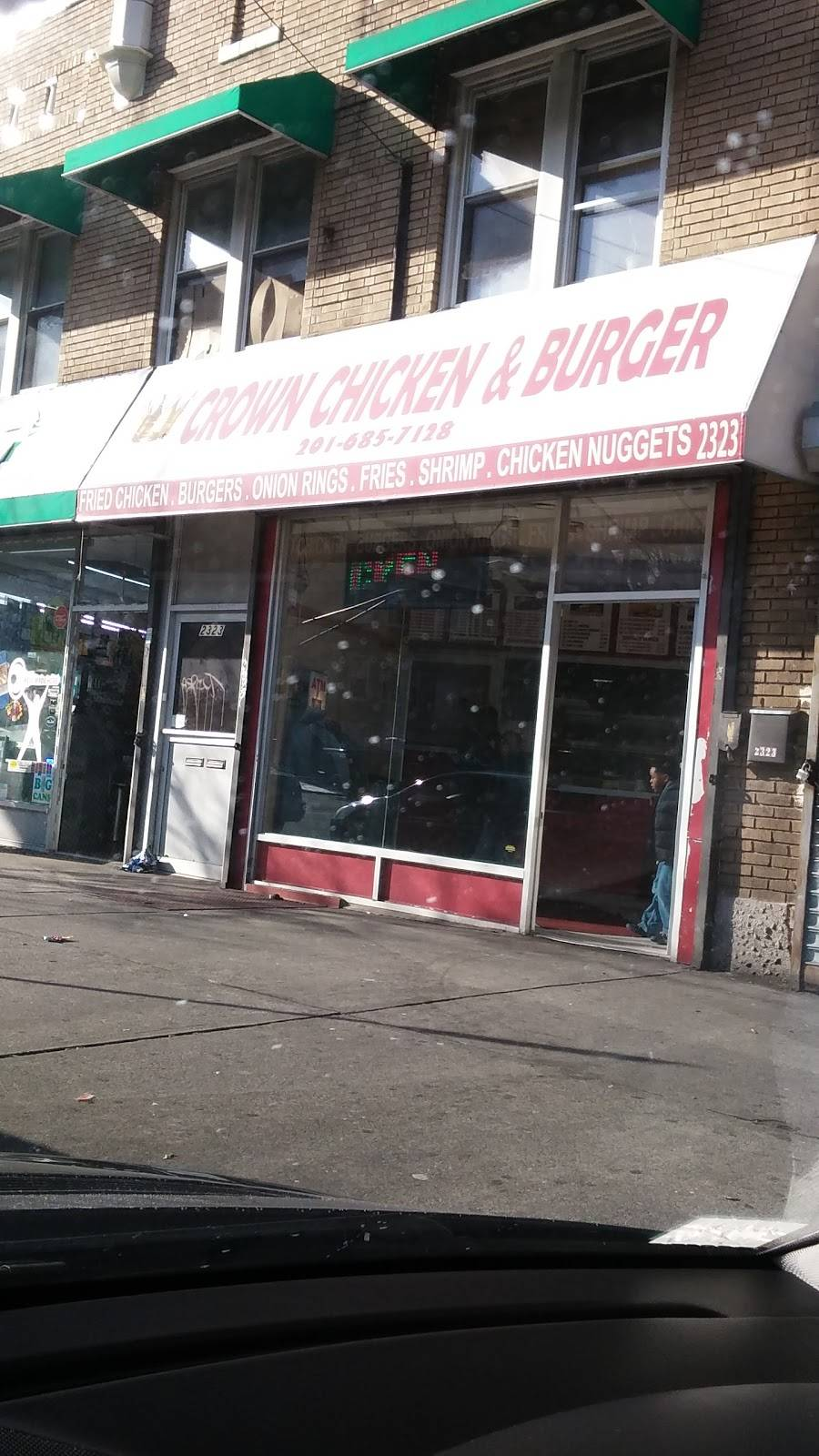 Crown Chicken & Burger | restaurant | 2323 John F. Kennedy Blvd, Jersey City, NJ 07304, USA | 2016857128 OR +1 201-685-7128