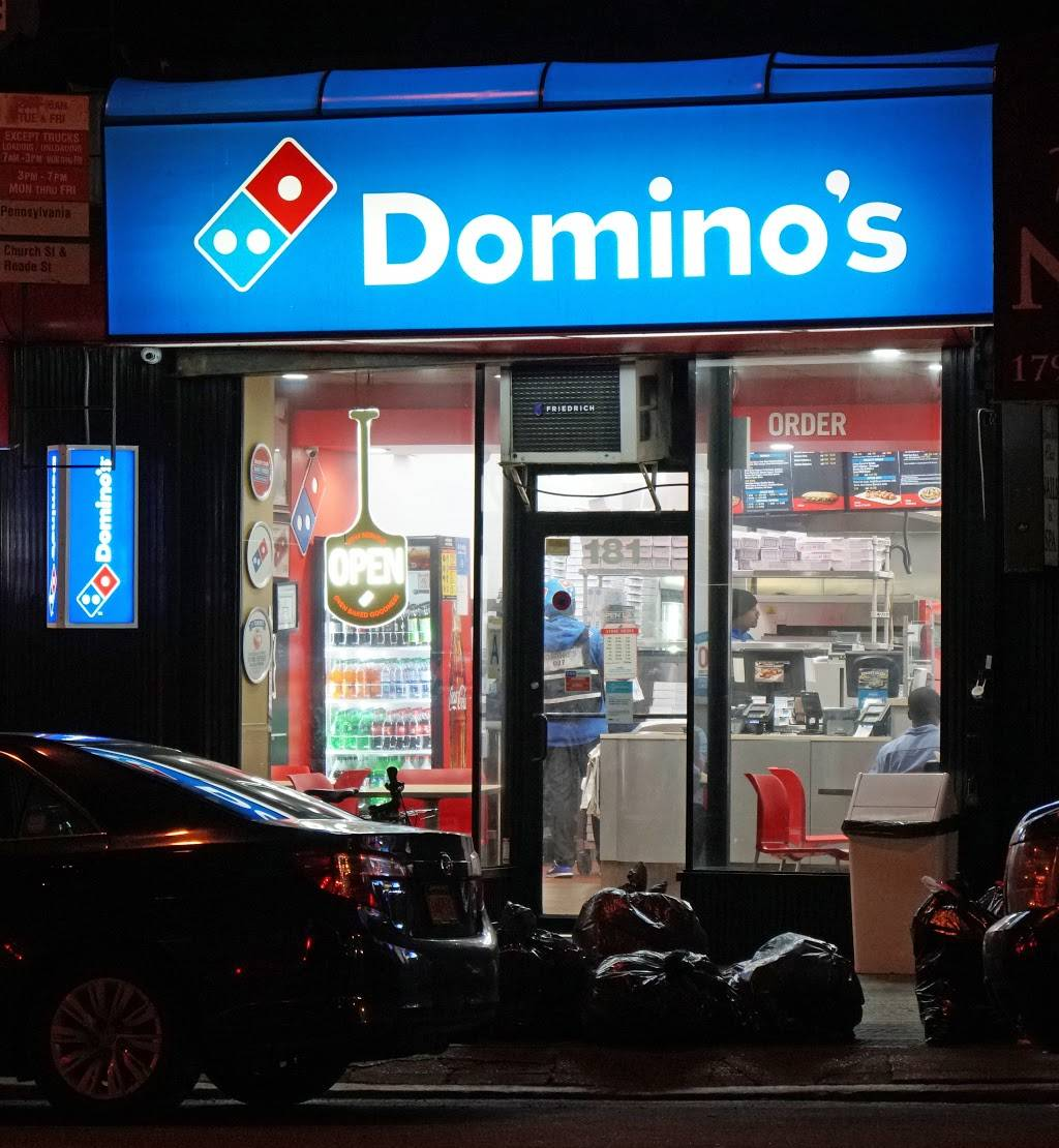 Dominos Pizza | meal delivery | 181 Church St, New York, NY 10007, USA | 2125668888 OR +1 212-566-8888