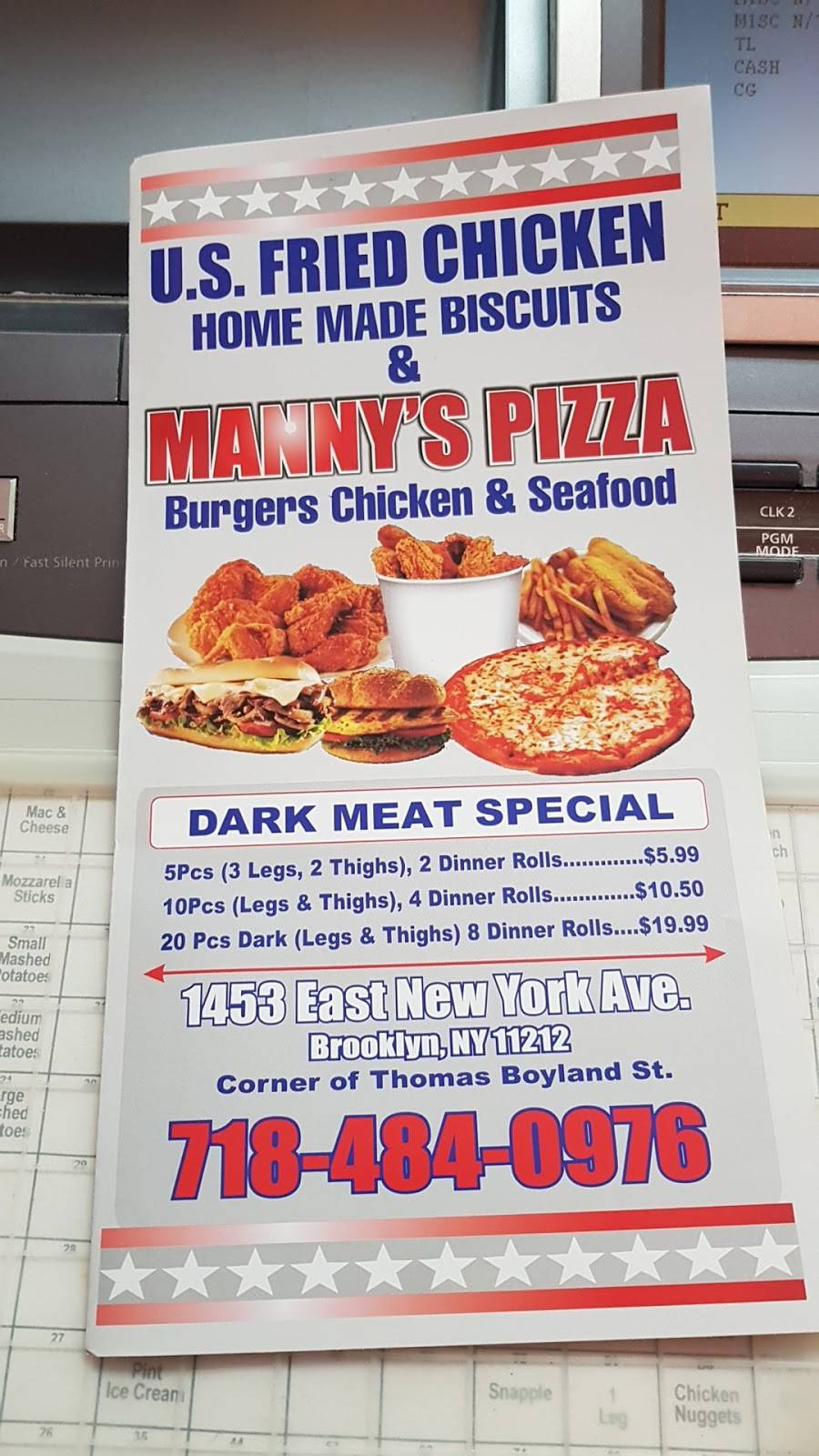 US Fried Chicken | restaurant | 1453 E New York Ave, Brooklyn, NY 11212, USA | 7184840976 OR +1 718-484-0976