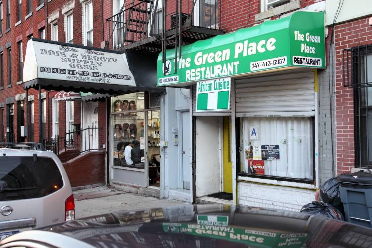 The Green Place | restaurant | 180 Rockaway Ave, Brooklyn, NY 11233, USA | 3477852738 OR +1 347-785-2738