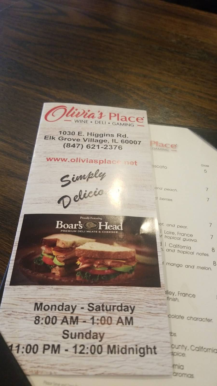 Olivias Place | restaurant | 1030 E Higgins Rd, Elk Grove Village, IL 60007, USA | 8476212376 OR +1 847-621-2376