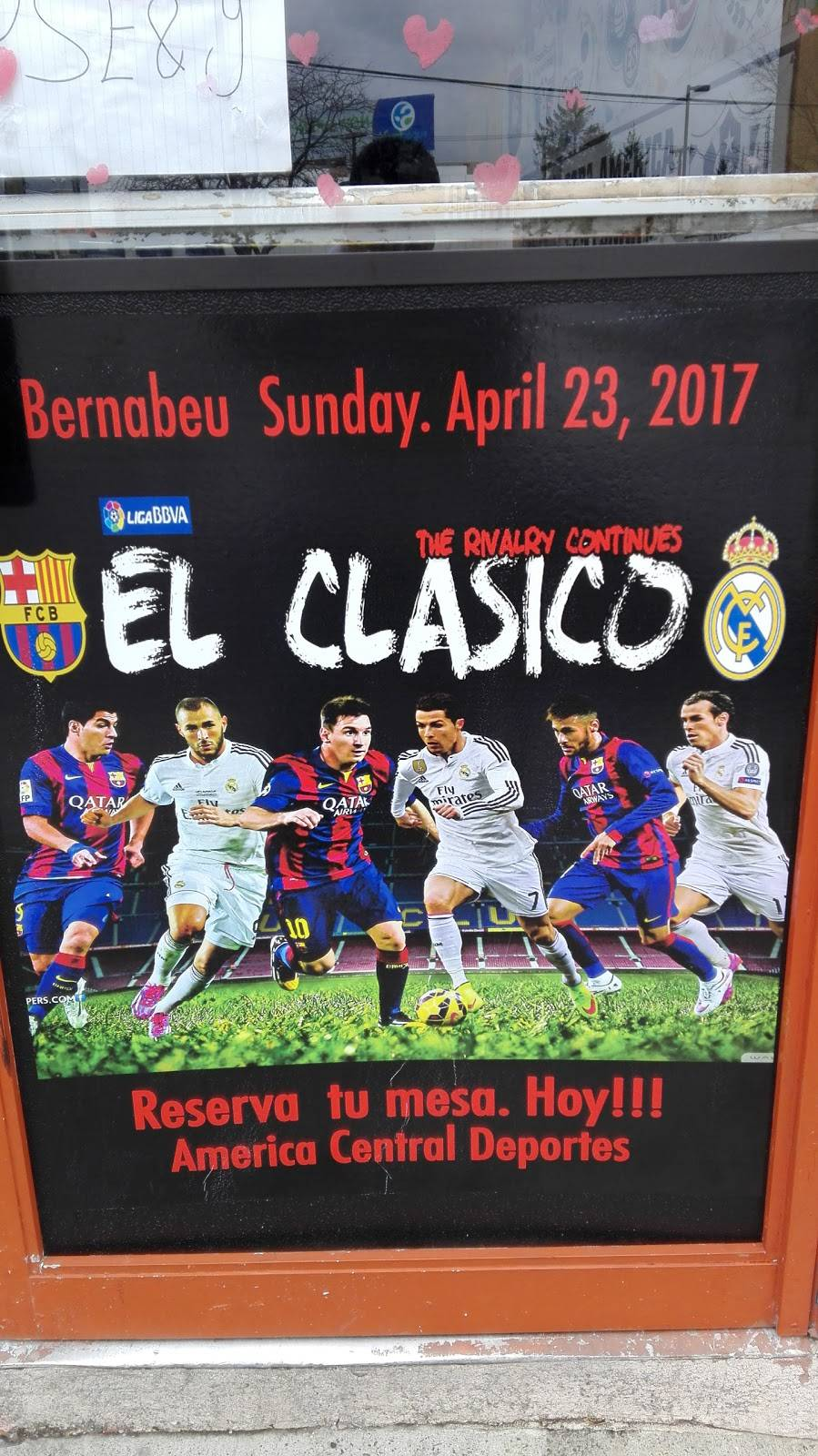America Central Deportes Restaurant | restaurant | 9264 John F. Kennedy Blvd, North Bergen, NJ 07047, USA | 2017587348 OR +1 201-758-7348