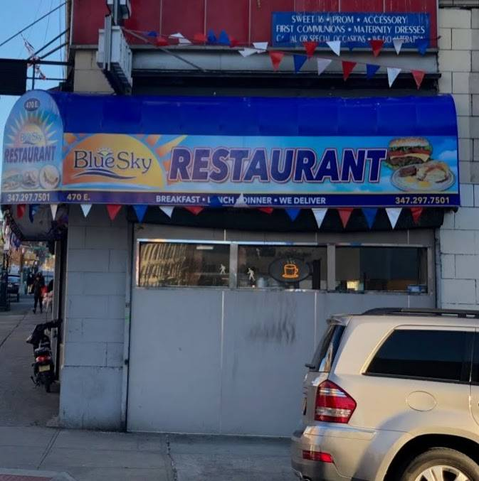 Blue sky restaurant | restaurant | 470 E Tremont Ave, Bronx, NY 10457, USA | 3472977501 OR +1 347-297-7501