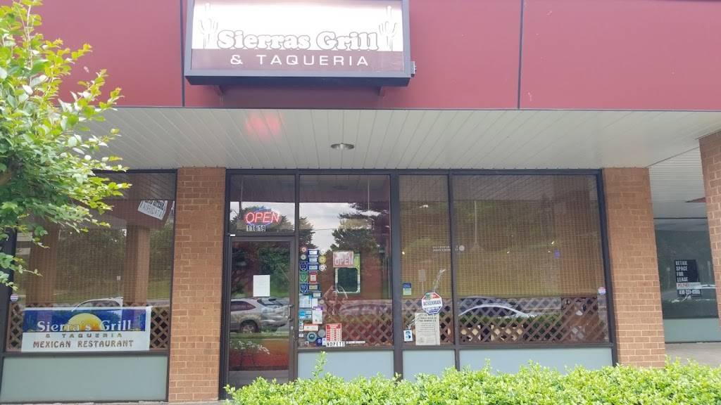 Sierras Grill & Taqueria   restaurant   11619 Beltsville Dr, Calverton, MD 20705, USA   3015727830 OR +1 301-572-7830