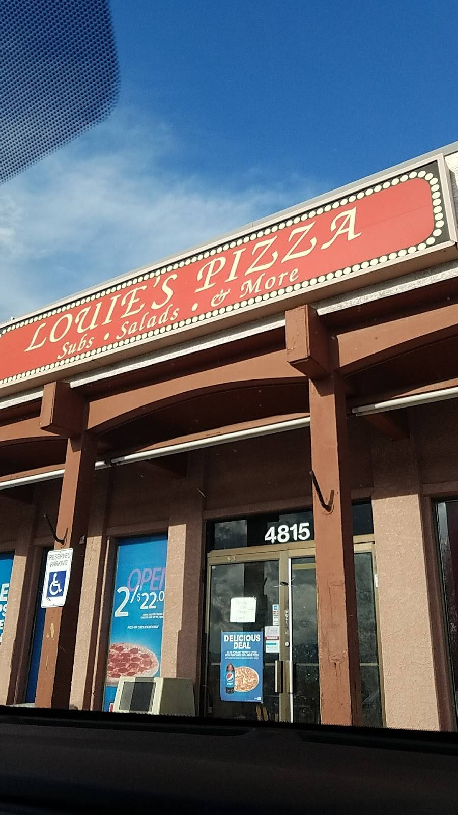 Louies Pizza | meal delivery | 4815 Barnes Rd, Colorado Springs, CO 80917, USA | 7195915241 OR +1 719-591-5241