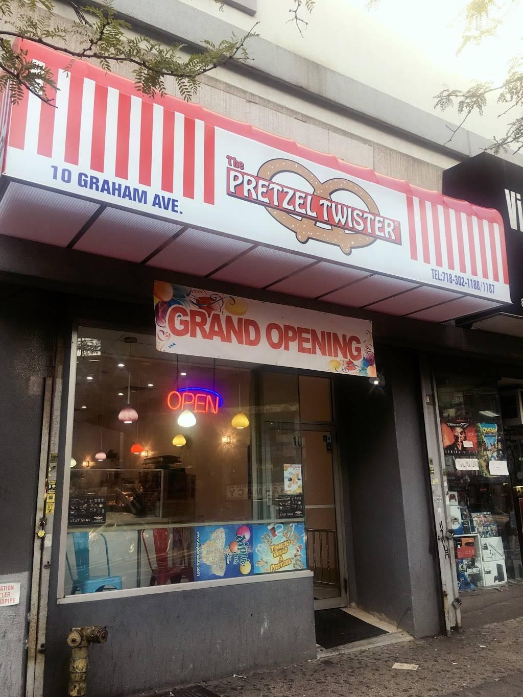The Pretzel Twister   restaurant   10 Graham Ave, Brooklyn, NY 11206, USA   7183021188 OR +1 718-302-1188