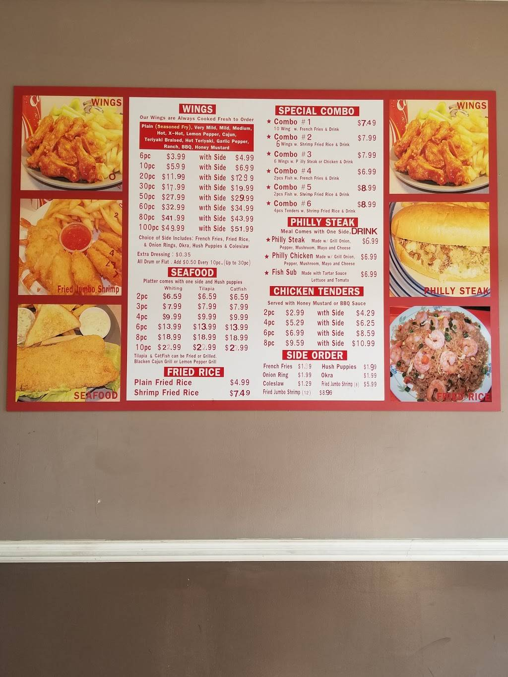 Wings & Seafood | meal delivery | 6977 Concourse Pkwy, Douglasville, GA 30134, USA | 6783910054 OR +1 678-391-0054