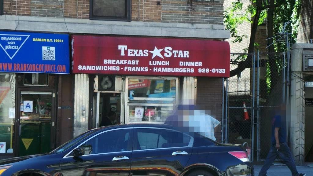 Texas Star Snack Bar Inc | restaurant | 741 St Nicholas Ave #1, New York, NY 10031, USA | 2129260133 OR +1 212-926-0133