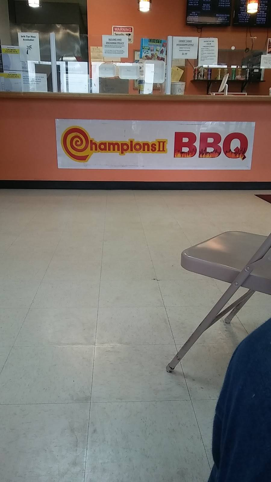 Champions II BBQ | restaurant | 17659 Torrence Ave, Lansing, IL 60438, USA | 7084184408 OR +1 708-418-4408