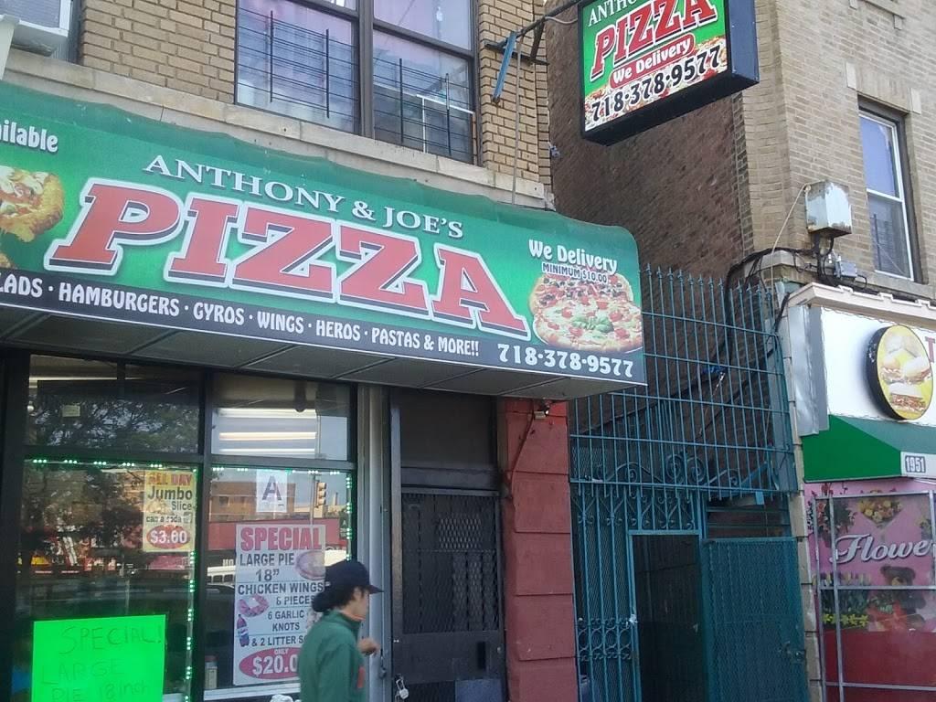Anthony & Joes Pizza   restaurant   1941 Southern Blvd, Bronx, NY 10460, USA   7183789577 OR +1 718-378-9577