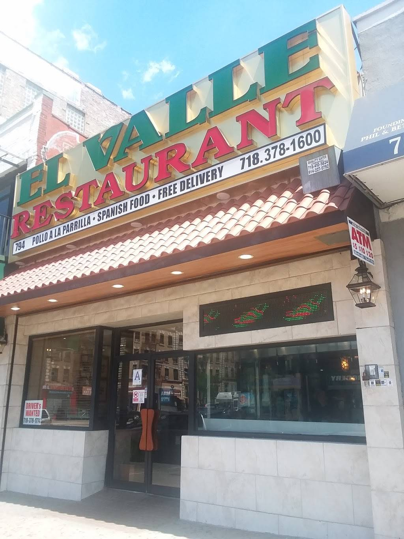 El Valle | restaurant | 794 Southern Blvd, Bronx, NY 10455, USA | 7183781774 OR +1 718-378-1774