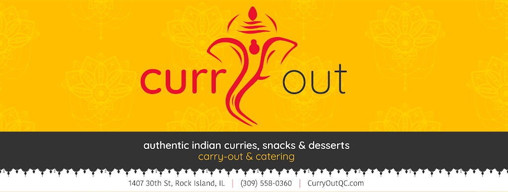 Curry-Out Indian Curries, Snacks & Desserts | meal takeaway | 1407 30th St, Rock Island, IL 61201, USA | 3095580360 OR +1 309-558-0360