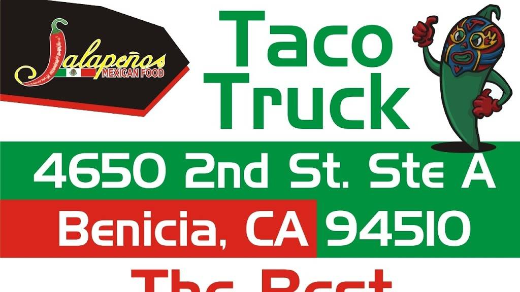 JALAPEÑOS MEXICAN FOOD TACO TRUCK | restaurant | 4650 2nd Street St A, Benicia, CA 94510, USA