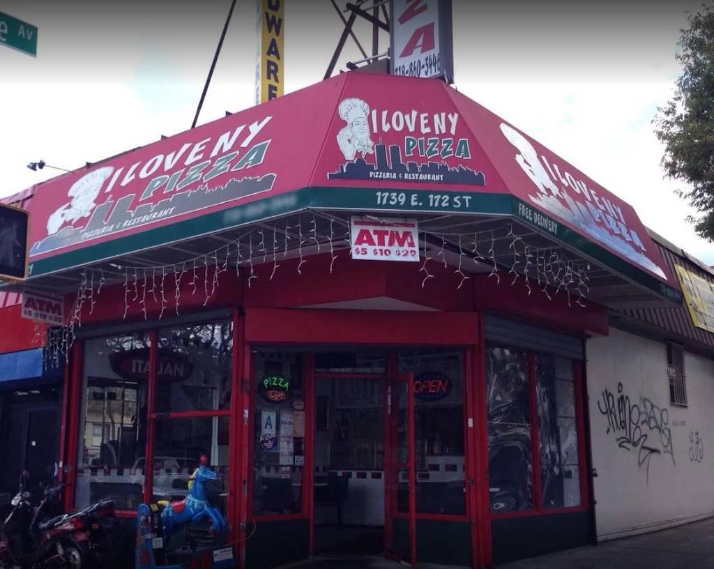 I Love NY Pizza | meal delivery | 1739 E 172nd St, Bronx, NY 10472, USA | 7188603446 OR +1 718-860-3446