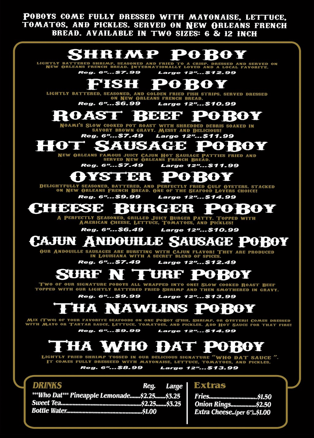 Who Dat PoBoys Food Truck | restaurant | 3391 N Pace Blvd, Pensacola, FL 32505, USA