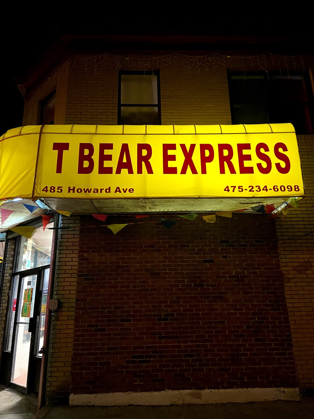 T Bear Express | restaurant | 485 Howard Ave, New Haven, CT 06519, USA | 4752346098 OR +1 475-234-6098