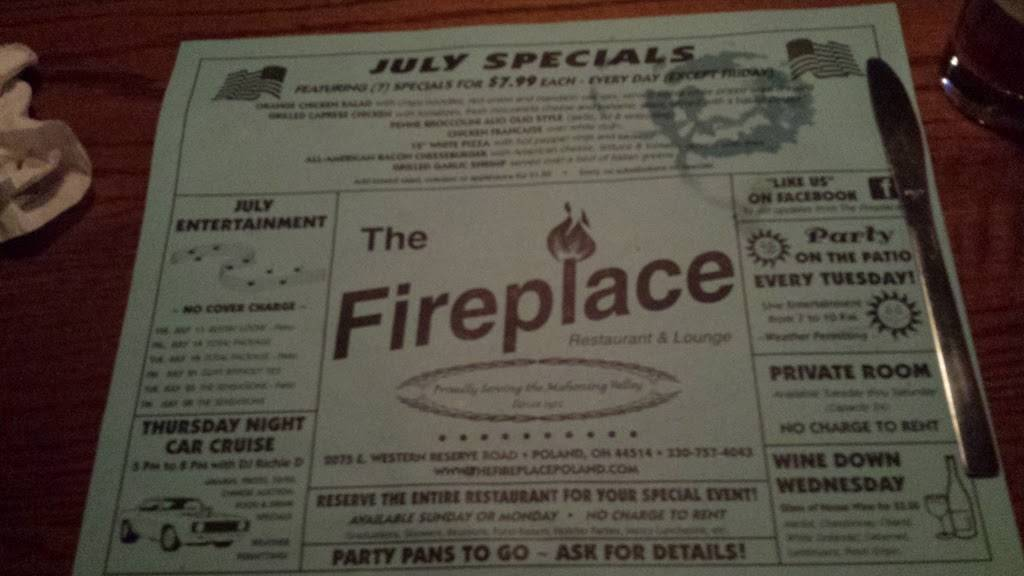 Fireplace Restaurant & Lounge   restaurant   2075 E Western Reserve Rd, Youngstown, OH 44514, USA   3307574042 OR +1 330-757-4042