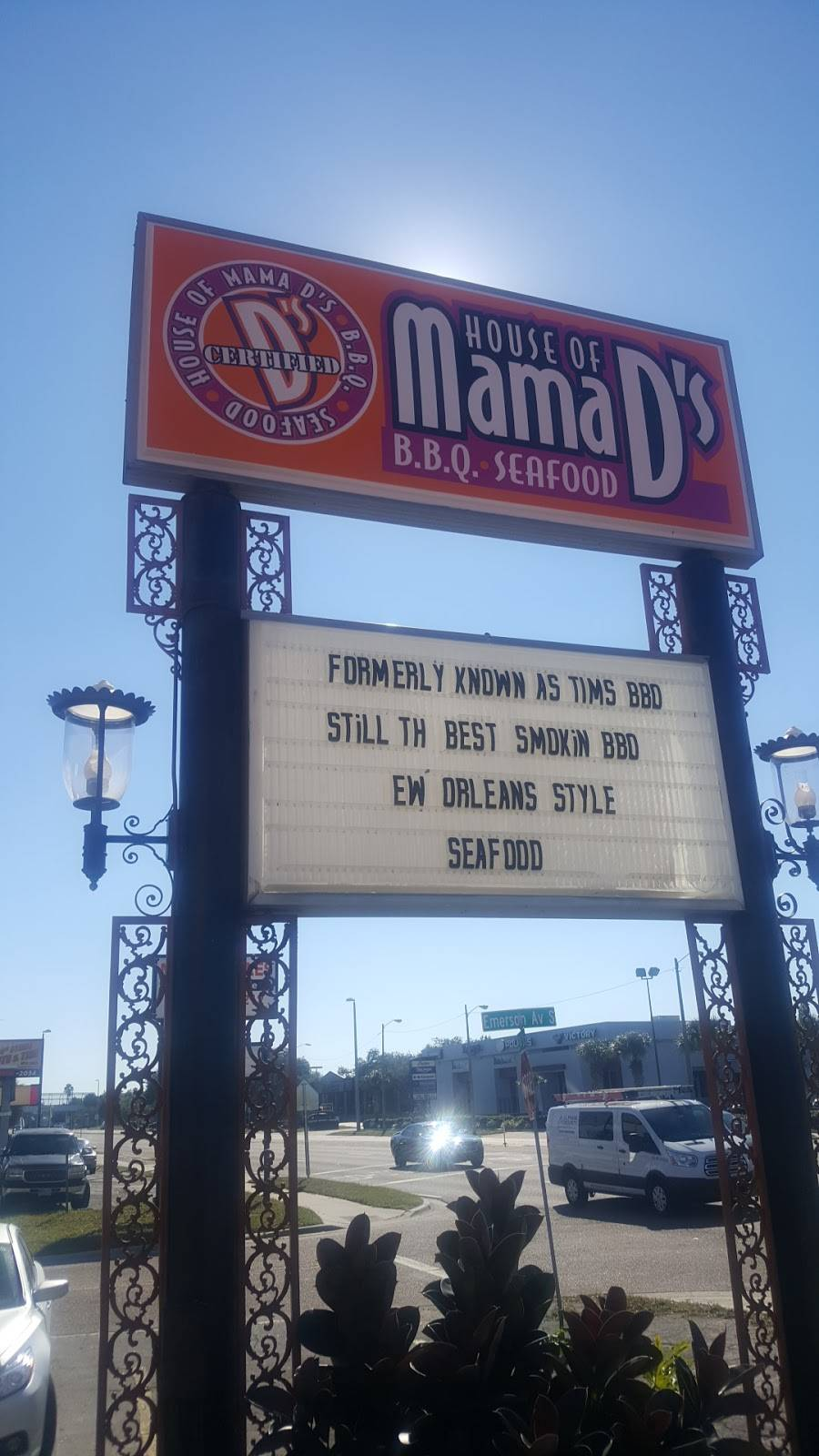 House of Mama Ds BBQ & Seafood   restaurant   530 34th St S, St. Petersburg, FL 33711, USA   7278009896 OR +1 727-800-9896