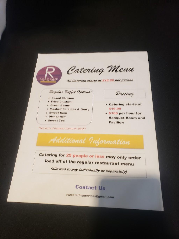 Roz's Cafe   restaurant   7471 Baltzell Ave, Fort Benning, GA 31905, USA   7066412184 OR +1 706-641-2184