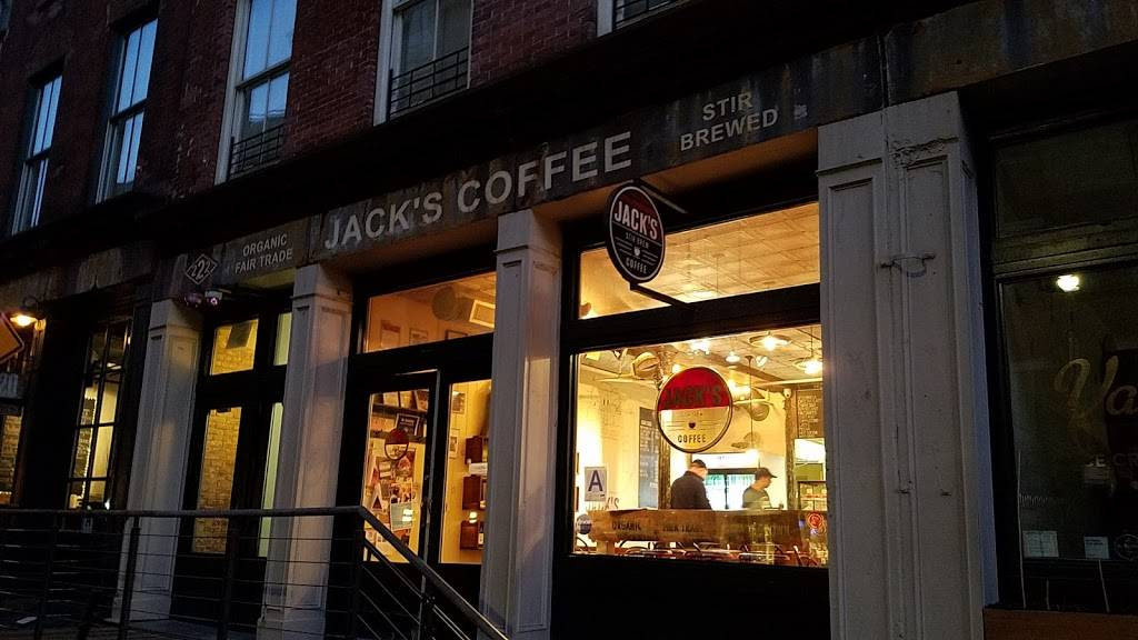 Jack's Stir Brew Coffee   cafe   222 Front St, New York, NY 10038, USA   2122277631 OR +1 212-227-7631