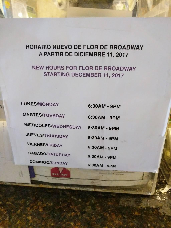La Flor De Broadway | restaurant | 3395 Broadway, New York, NY 10031, USA | 2122811556 OR +1 212-281-1556