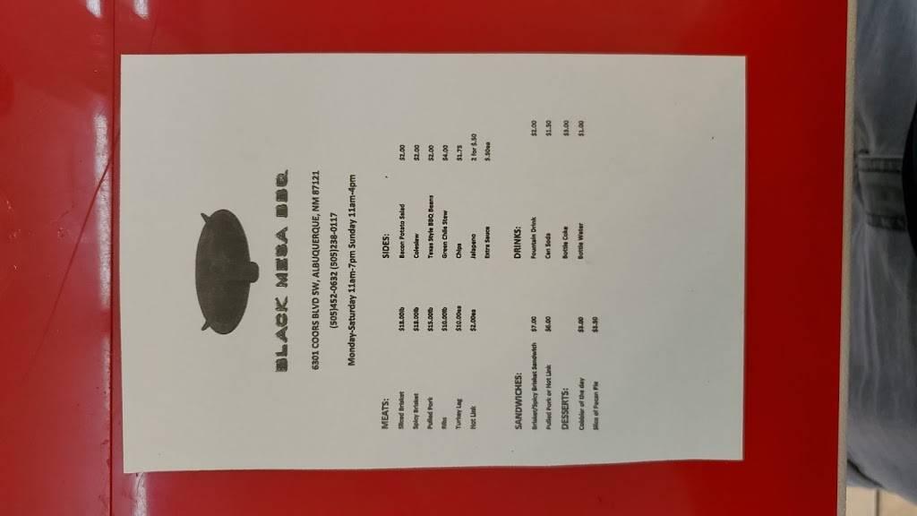 Black Mesa BBQ | restaurant | 6301 Coors Blvd SW, Albuquerque, NM 87121, USA | 5054520632 OR +1 505-452-0632