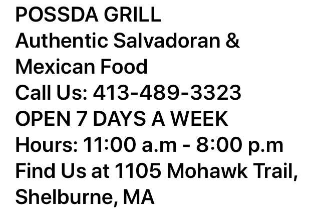 POSADA GRILL | restaurant | 1105 Mohawk Trail, Shelburne, MA 01370, USA | 4134893323 OR +1 413-489-3323