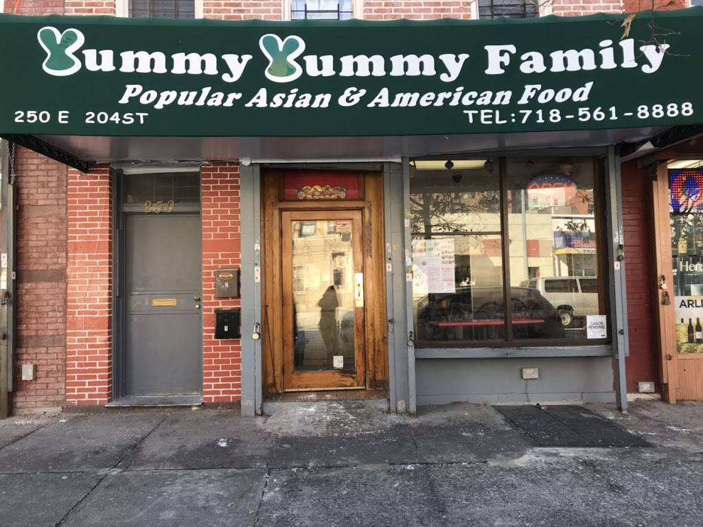 Yummy Yummy Family | restaurant | 250 E 204th St, Bronx, NY 10458, USA | 7185618888 OR +1 718-561-8888