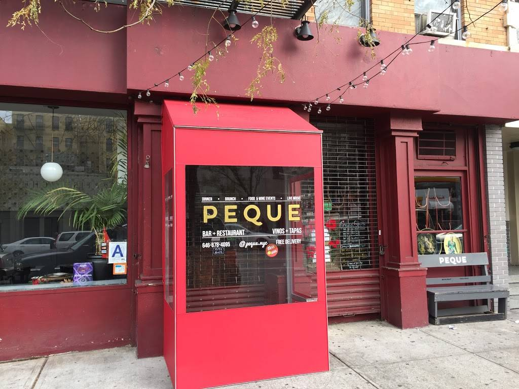 PEQUE Vinos & Tapas | restaurant | 231 W 145th St, New York, NY 10039, USA | 6466784095 OR +1 646-678-4095