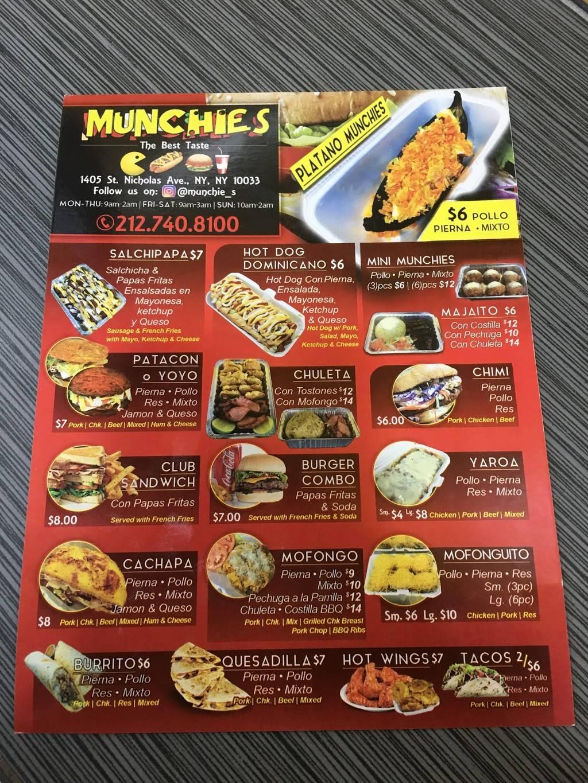 Munchies The Best Taste | restaurant | 1405 St Nicholas Ave, New York, NY 10033, USA | 2127408100 OR +1 212-740-8100