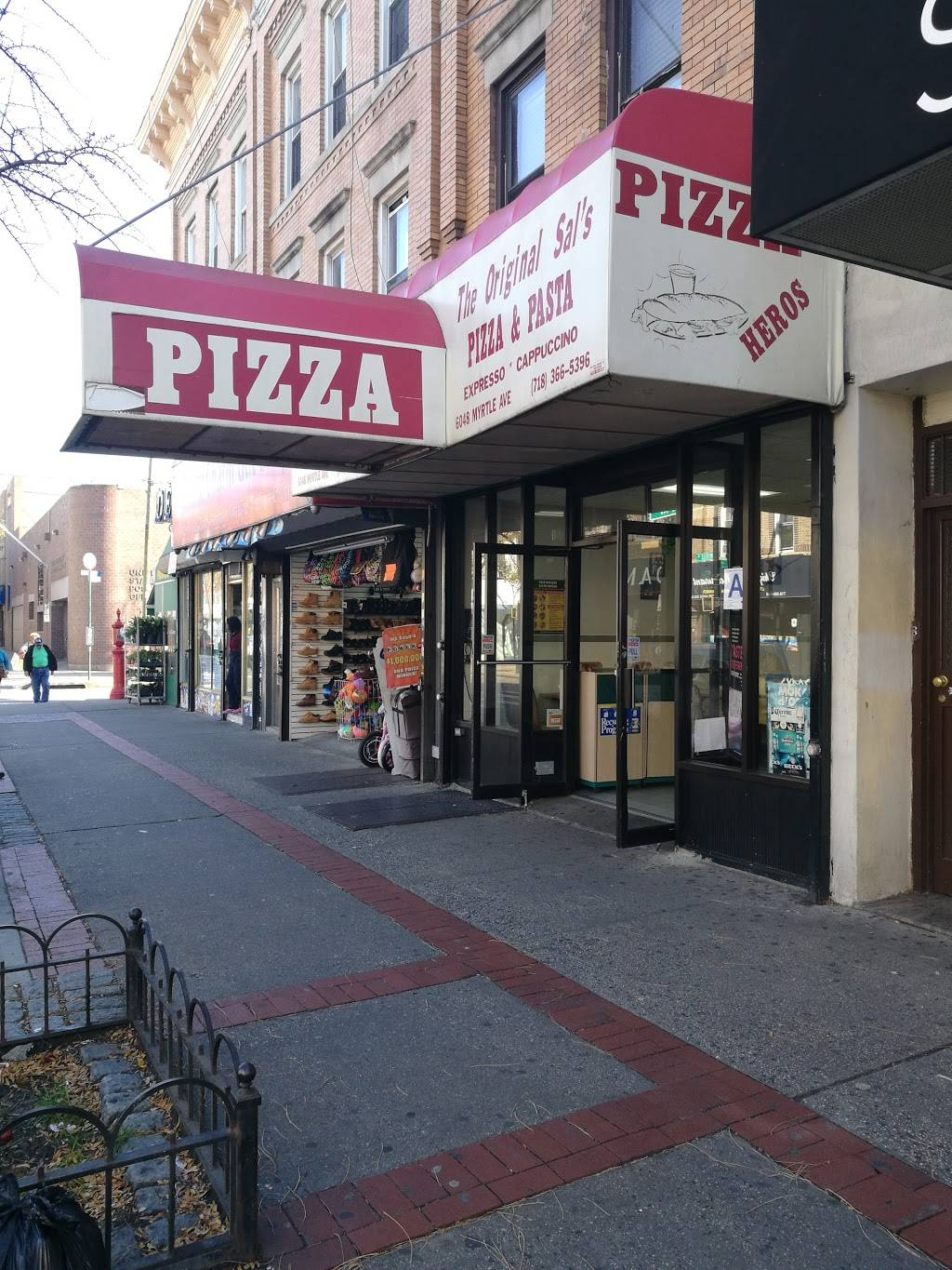 Original Sals Pizza | restaurant | 6048 Myrtle Ave, Flushing, NY 11385, USA | 7183665396 OR +1 718-366-5396