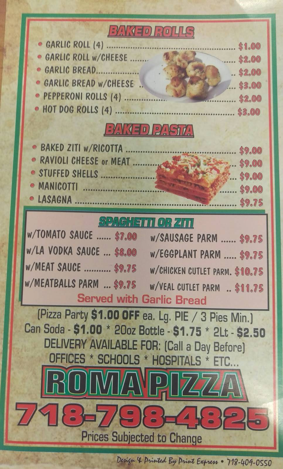 Roma Pizza   restaurant   735 Allerton Ave, Bronx, NY 10467, USA   7187984825 OR +1 718-798-4825