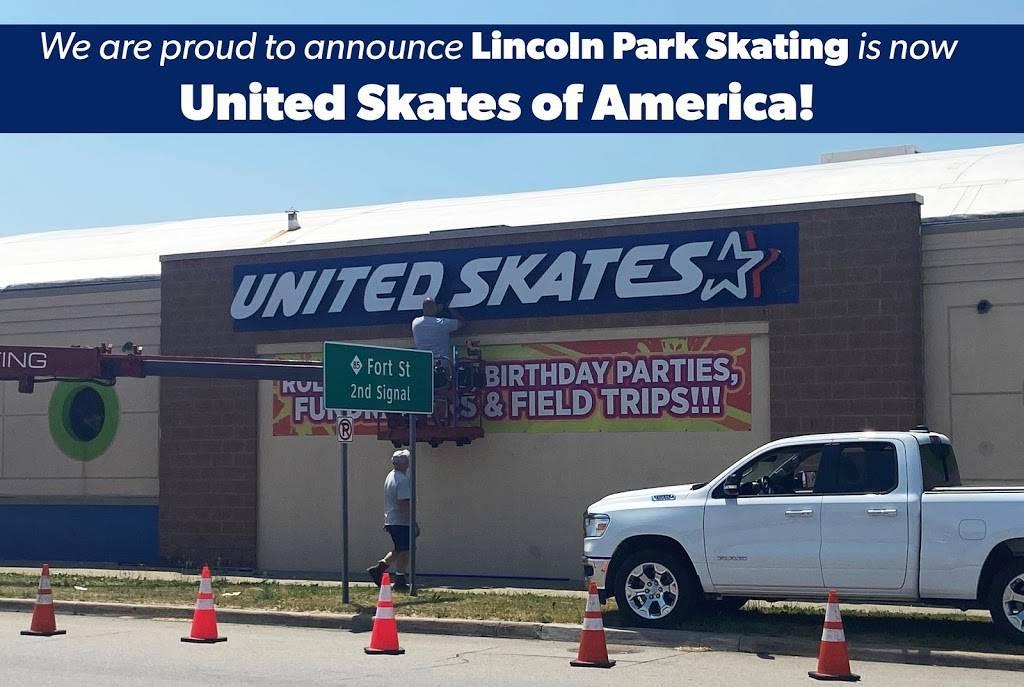 United Skates of America (formerly Lincoln Park Skating Center) | cafe | 1419 Southfield Rd, Lincoln Park, MI 48146, USA | 3133817465 OR +1 313-381-7465