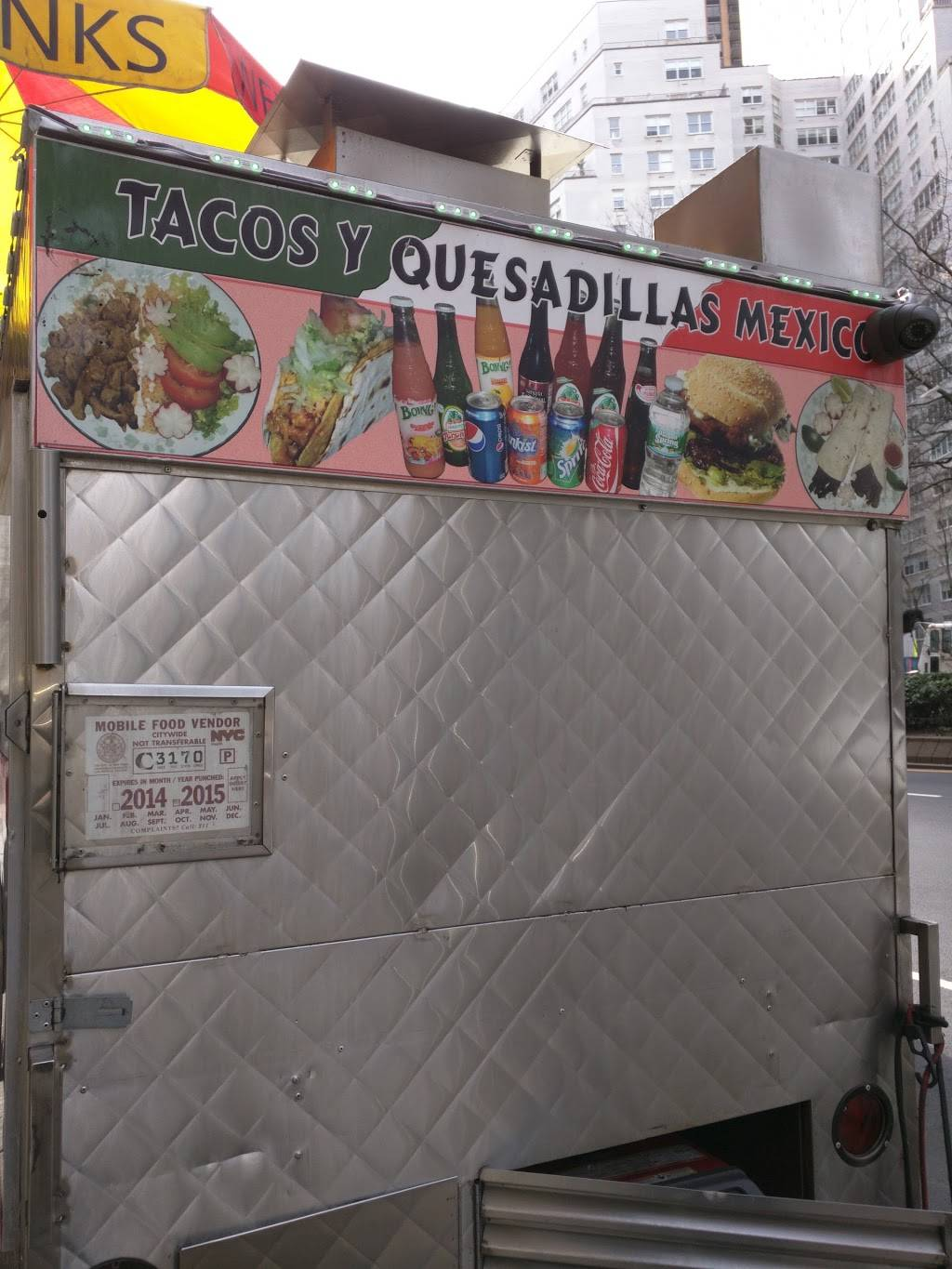 Tacos Y Quesadillas Mexico (Food Truck) | restaurant | 2030 Broadway, New York, NY 10023, USA | 3478467413 OR +1 347-846-7413