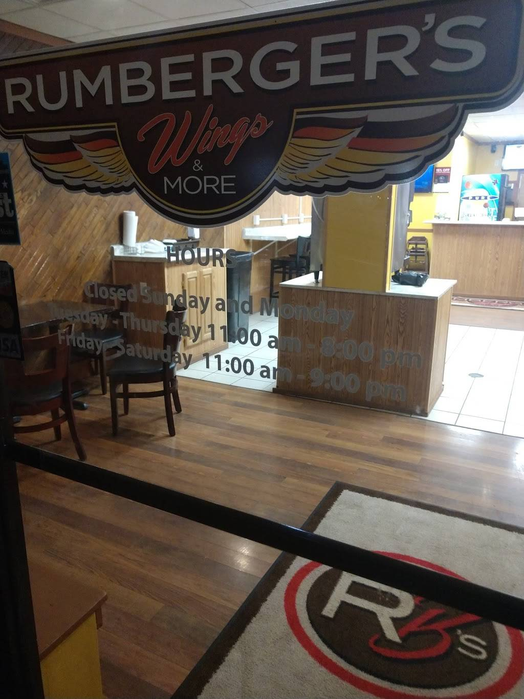 Rumbergers Wings and More   meal delivery   8807 N Knoxville Ave, Peoria, IL 61615, USA   3098391594 OR +1 309-839-1594
