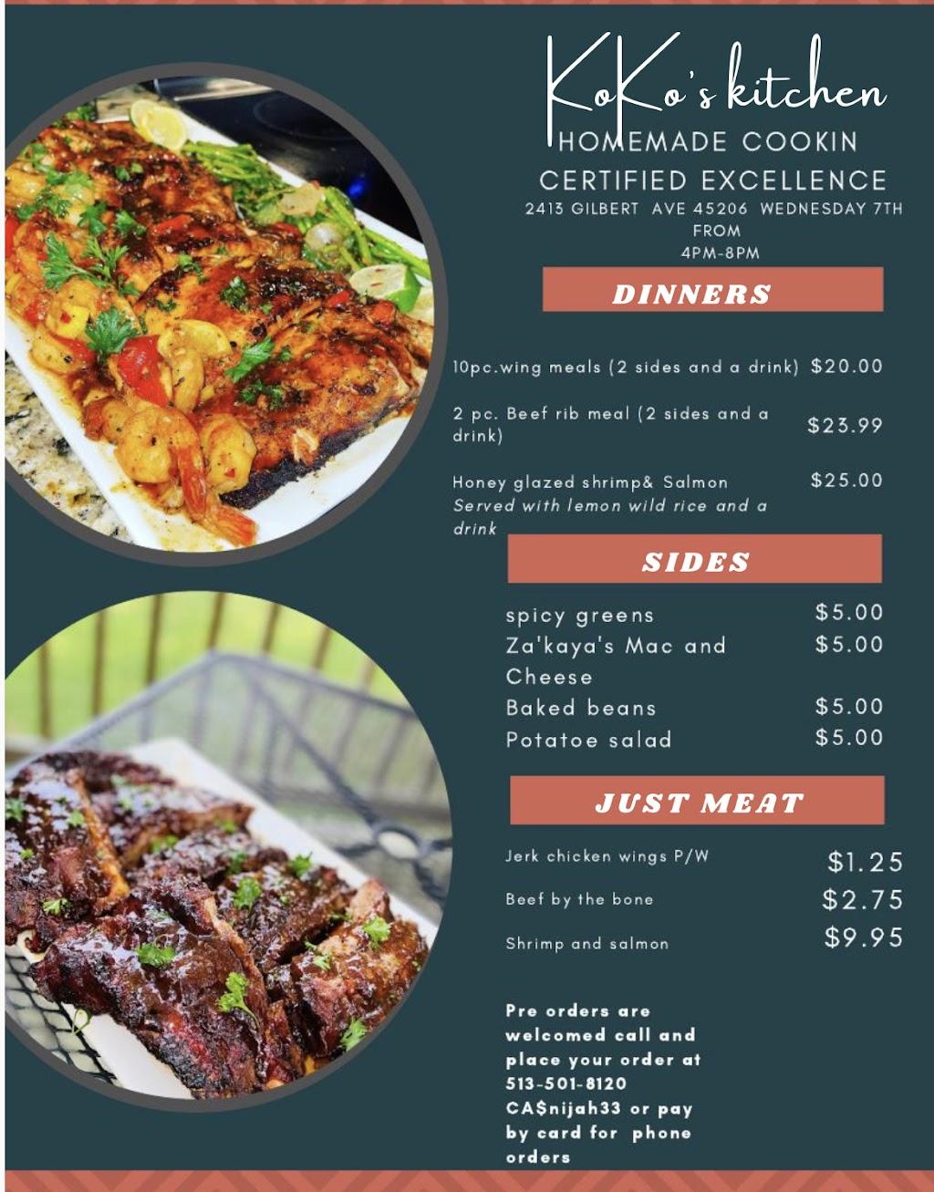 KoKos Kitchen LLC | restaurant | 2506 Meadowmar Ln, Cincinnati, OH 45230, USA | 5133867968 OR +1 513-386-7968