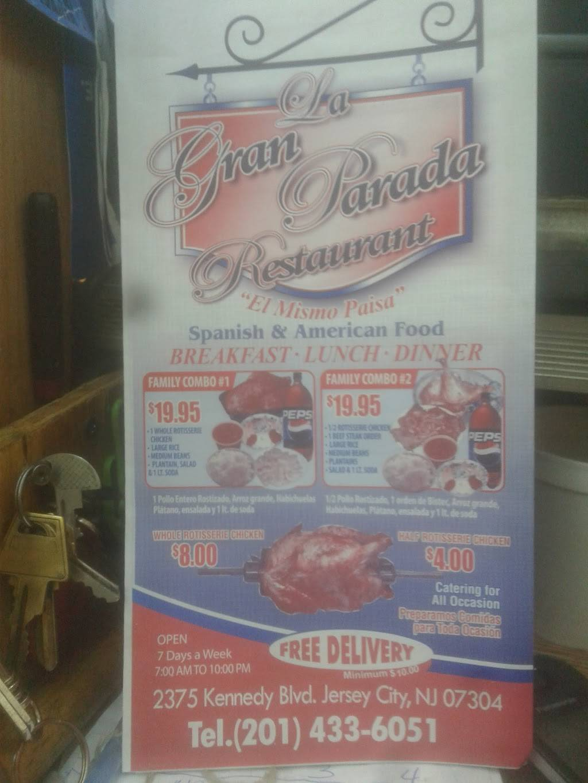 La Gran Parada | restaurant | 190 Clinton Ave, Jersey City, NJ 07304, USA | 2014336051 OR +1 201-433-6051