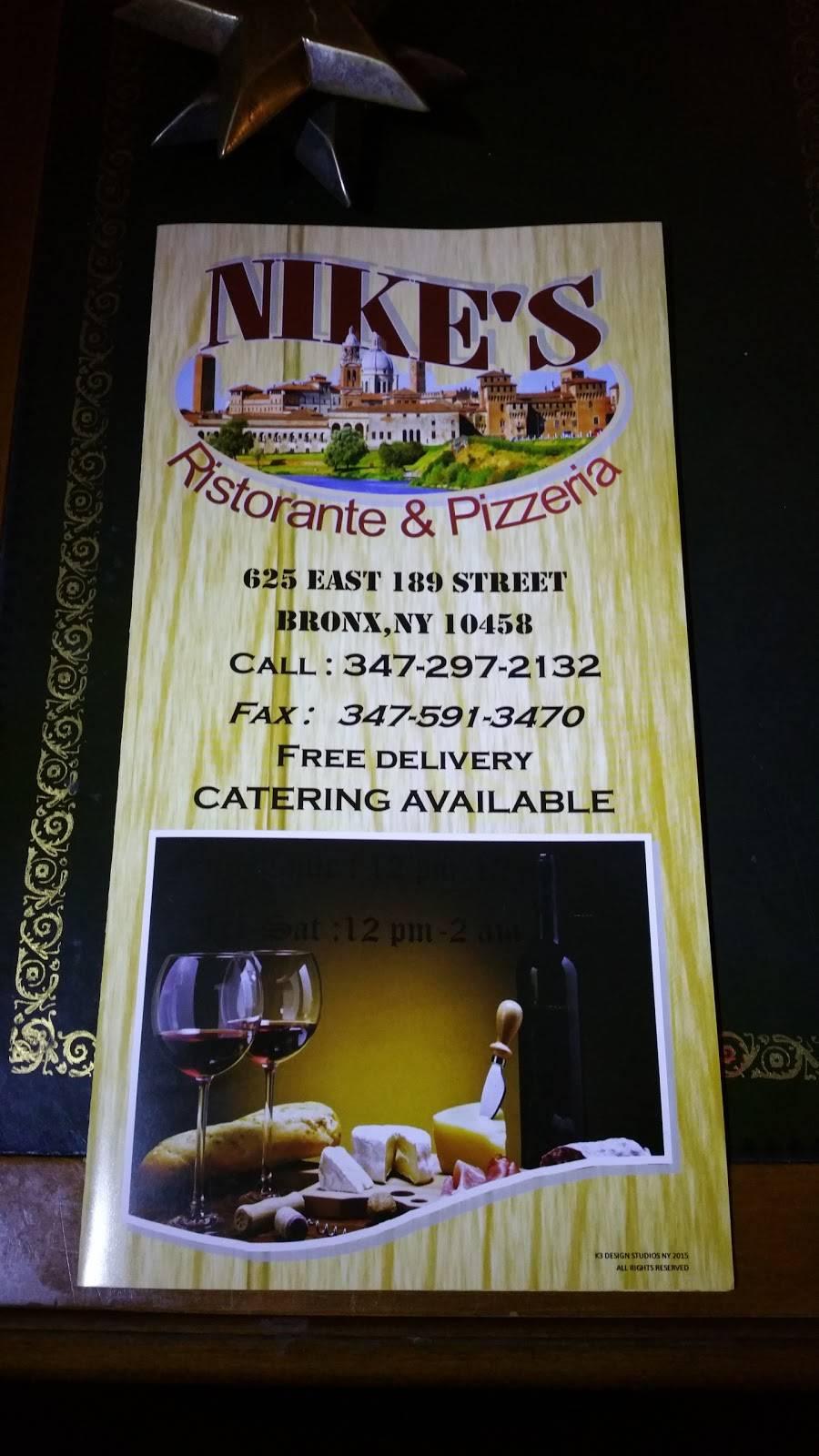 Nikes Pizzeria | restaurant | 625 E 189th St, Bronx, NY 10458, USA | 3472972132 OR +1 347-297-2132