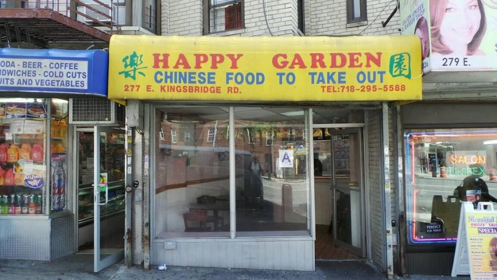 Happy Garden | restaurant | 277 E Kingsbridge Rd, Bronx, NY 10458, USA | 7182955588 OR +1 718-295-5588