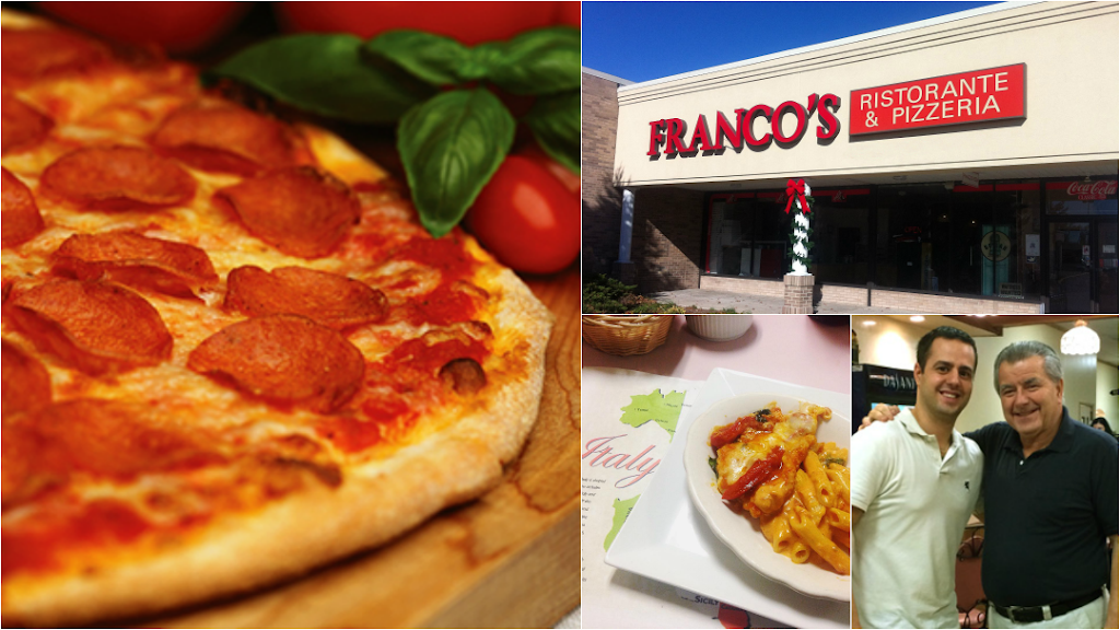 Francos Pizzeria & Ristorante   meal delivery   907 Bloomfield Ave, West Caldwell, NJ 07006, USA   9732278436 OR +1 973-227-8436