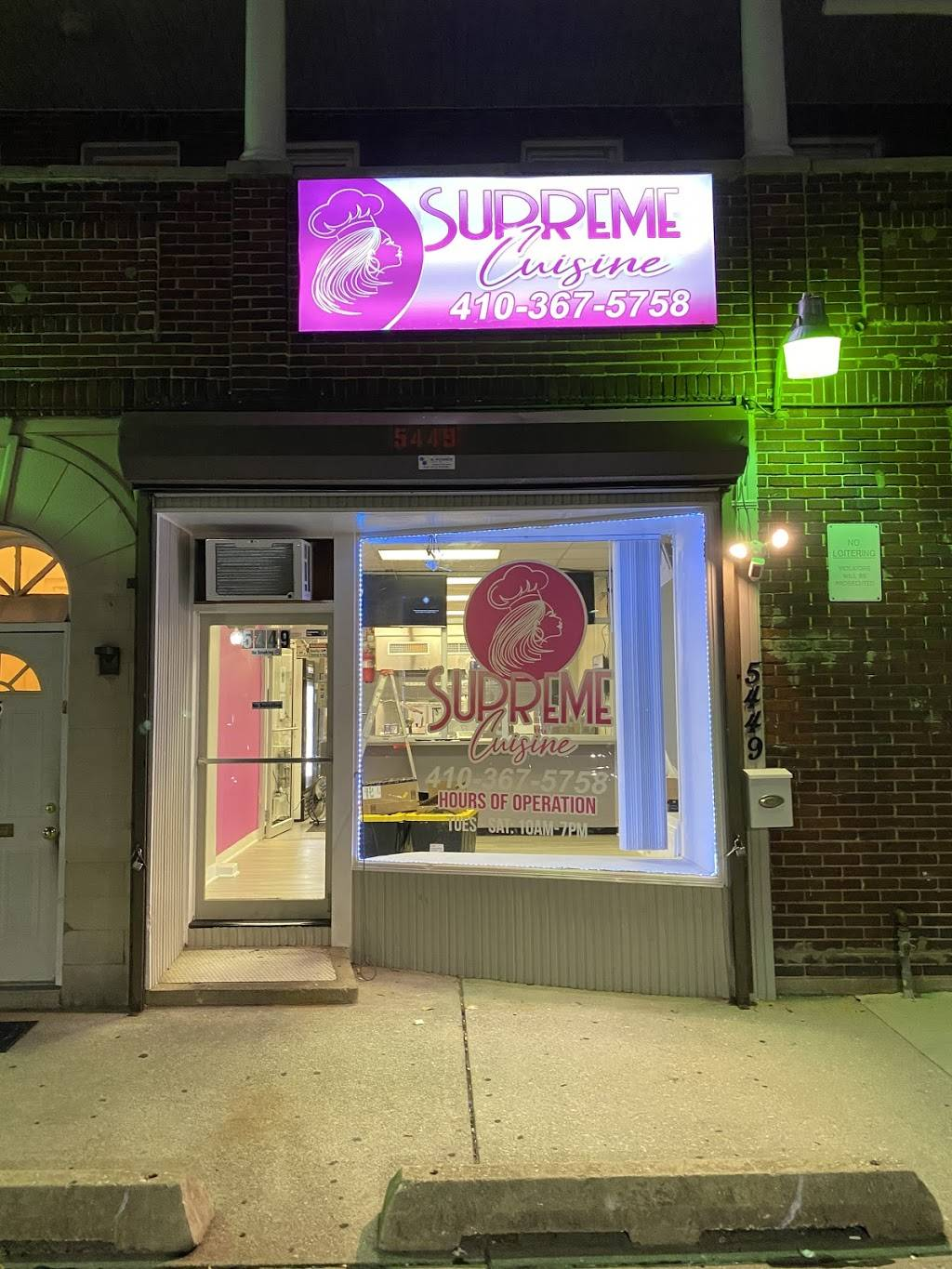 Supreme Cuisine | restaurant | 5449 Park Heights Ave, Baltimore, MD 21215, USA | 4103675758 OR +1 410-367-5758