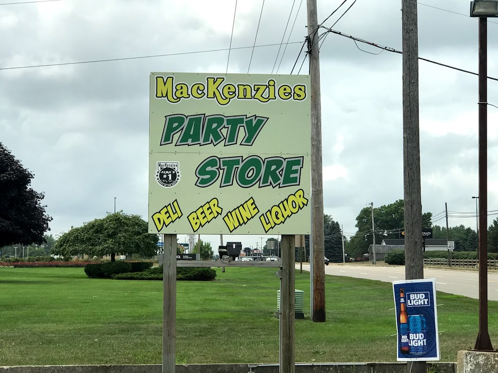 Mackenzies Party Store | meal takeaway | 7890 N Alger Rd, Alma, MI 48801, USA | 9894633362 OR +1 989-463-3362