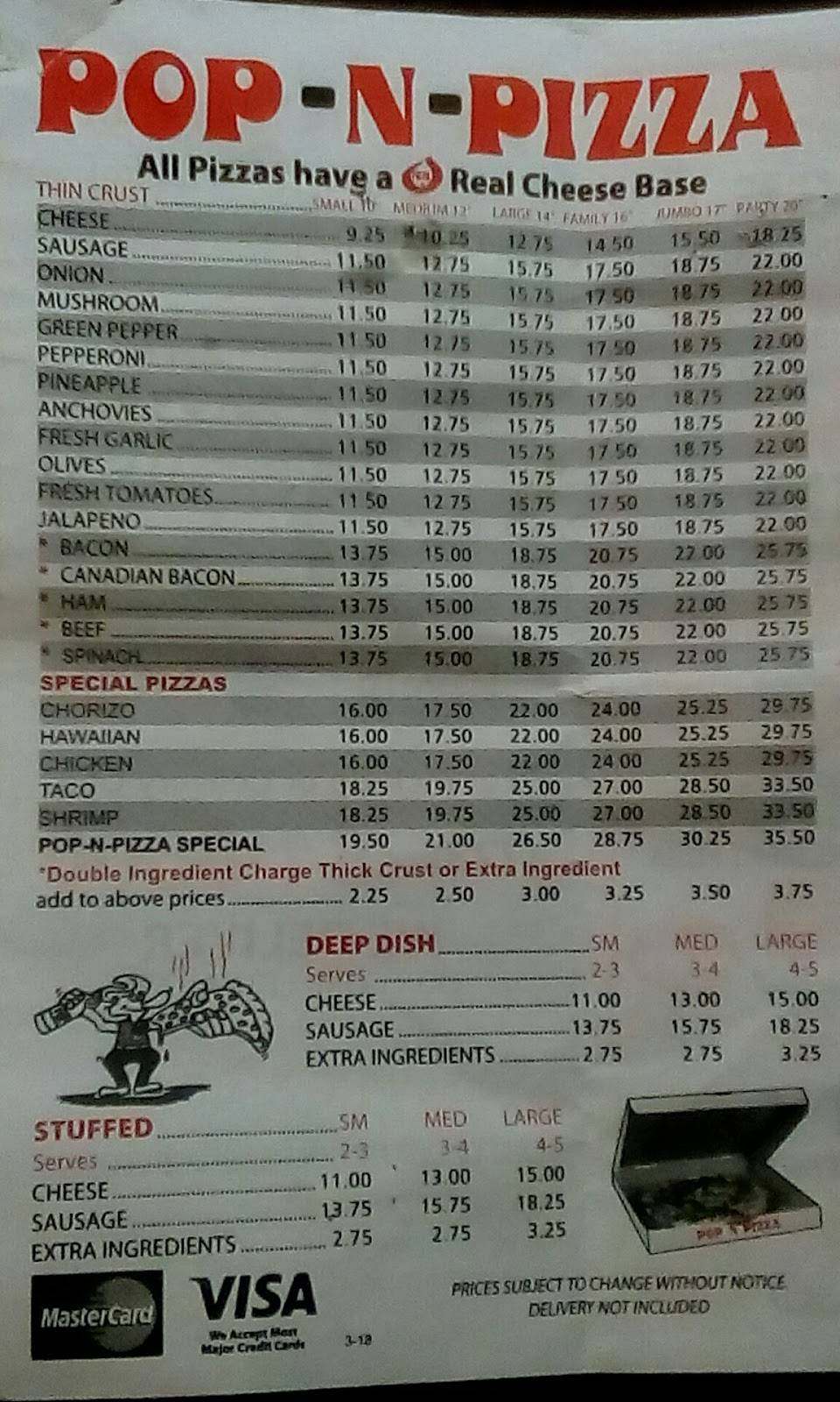 Pop-N-Pizza | restaurant | 3701 W 59th St, Chicago, IL 60629, USA | 7732848500 OR +1 773-284-8500