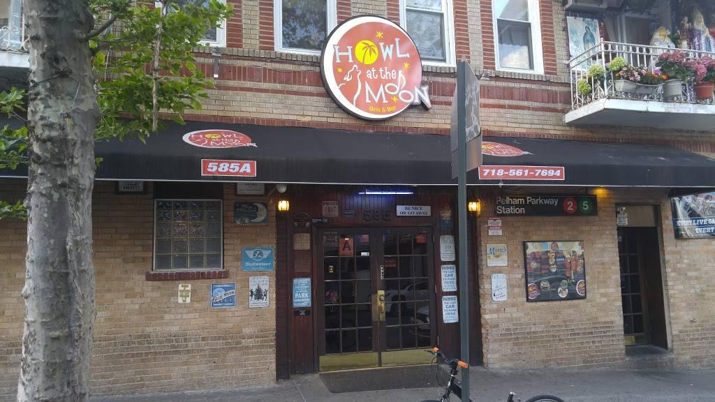 Howl at the Moon   restaurant   585 E 189th St, Bronx, NY 10458, USA   7185617694 OR +1 718-561-7694