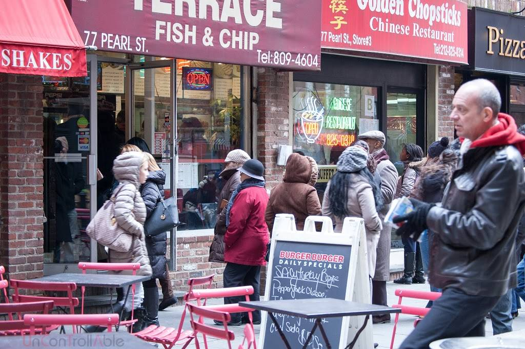 Terrace Fish & Chips | restaurant | 2613, 77 Pearl St, New York, NY 10004, USA | 2128094604 OR +1 212-809-4604
