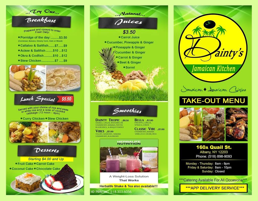 Daintys Jamaican Kitchen   restaurant   160 A Quail St, Albany, NY 12203, USA   5188989093 OR +1 518-898-9093
